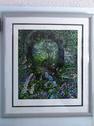 Limited Edition Afternoon Walk Hand-signed Original Framed Art By Susan Rios