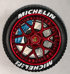 118 AB Models Wheels and Tires Set Sky Forged Wheels Shinny Red AB1002C