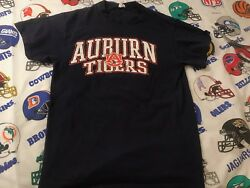 Men's Auburn Tigers Spell Out Ncaa Short Sleeve T-shirt Size Small C1