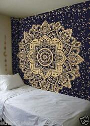 Lot of 50 Indian Ethnic Mandala Dorm Decor Wall Hanging Hippie Tapestry Bohemian
