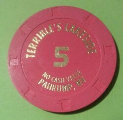 Terribles Lakeside Casino Pahrump Nevada 5.00 Chip Great For Any Collection