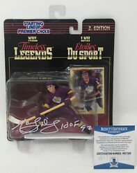 Marcel Dionne Signed 1997 Starting Lineup Figure Los Angeles Kings Beckett Coa