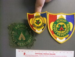 Boy Scout Lot Of Schiff Reservation Patches Neal Slide 3159y