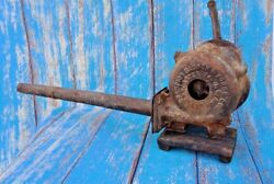 Old Vtg Champion Blower And Forge Co Cast Iron Hand Crank Blacksmith Tool Device