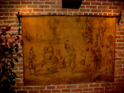 Vintage Tapestry Wall Hanging 68 X 49 Scene