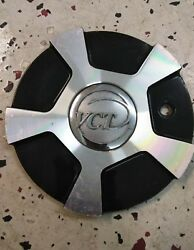 1 Vct Wheels Center Cap C350-3 C350-2 Black And Machined Hub Cover Plate Rims