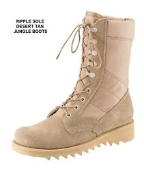 Desert Tan 10 In Ripple Sole Jungle Boots Military Swat Us Army Navy Usaf 3-13