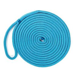 Kimpex Double Braided Dock Line Blue 5/8in X 35ft Nylon Rope Uv Resistant