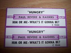 2 Paul Revere Hungry W Jukebox Title Strip Cd 7 45rpm Records