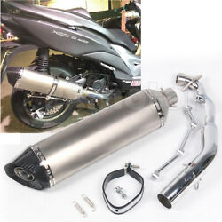 Exhaust System Carbon Fiber Tips Long Muffler For Kymco Xciting 400 570mm 22.4