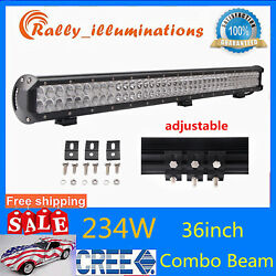 36inch 234w Led Work Light Bar Combo Driving Lamp 4x4wd Boat Truck Ford Ip67