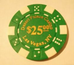 Desert Palace Casino Las Vegas Nevada Fake 25.00 Chip Great For Collection