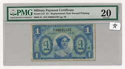 Series 541 Mpc 1 Replacement Note Second Printing S855-2r Pmg 20 Only 3 Finer