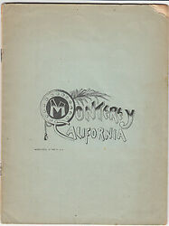 General Committee To Select / Claims Of Monterey California For The New 1st 1887