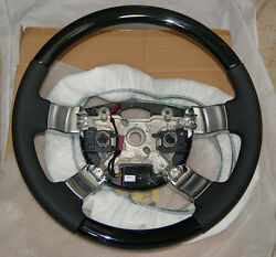 Range Rover OEM L322 2003-12 Piano Black Lacquer Wood Heated Steering Wheel New