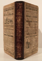 Henry G Langley / San Francisco Directory And Business Guide 1859-1860 1st Ed