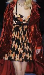 Christian Dior Boutique By John Galliano Floral Silk Dress