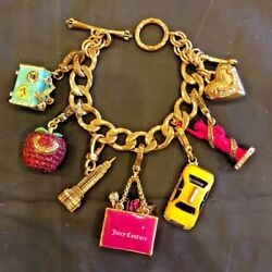Juicy Couture I Love Ny Theme Charm Bracelet With 6 Retired Charms