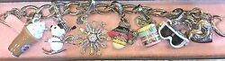 Juicy Couture Skiing Charm Bracelet W/ 6 Removable Charms
