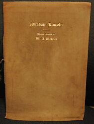 Extremely Rare, Abraham Lincoln Memorial Address, Will H.thompson,1913,signed