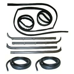 Window Sweeps Channel Door Seal Kit For 80-86 Ford Driver And Passenger 8pc