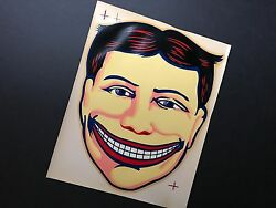 Vintage Coney Island Steeplechase Park Funny Face Decal / Rare, Mint / 9 X 11