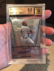 2011 Leaf Metal Draft Starling Marte Auto Bgs 9.5 Autograph On Card Pirates