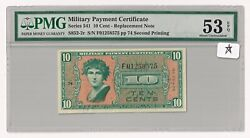 Series 541 Mpc 10andcent Replacement Note Second Printing Andndash S852-2r Andndashandnbsppmg Au 53 Epq