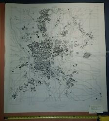 1943 Us Army Map City Plan Of Madrid Spain