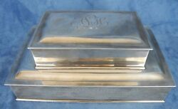Vintage And Co. Ahrendt And Kautzman Ak Sterling Silver Humidor Cigar Box