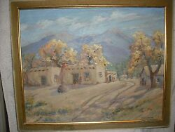 New Mexico Adobe Painting Frank Wiseman 1900-1998