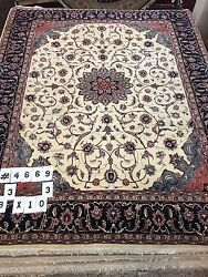 8and0393 X 10and0393 New Pakistani Floral Design Oriental Rug - 16/18 Quality Hand Made