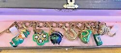 Juicy Couture St. Patricks's Day Theme Charm Bracelet W/ 6 Retired Charms