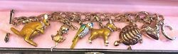 Juicy Couture Animal Theme Charm Bracelet With 5 Retired Charms
