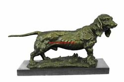 Basset Hound or Bloodhound Bronze Dog Sculpture 9.5