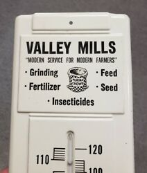 Vintage Valley Mills Purina Chow Metal Thermometer Sign Feed Seed Sack Farm