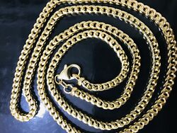 40.60 Grams 14k Solid Yellow Gold Franco Necklace Chain 26 Inch Brand New