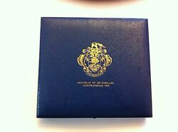 Seychelles Proof Set 1976 With Gold 1000 Rupees Km.ps4 Case And Coa Nob1053212sf