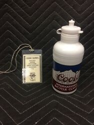 Coors International Bicycle Classic 1983 Water Bottle And Official Badge Vintage