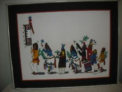 1979 New Mexico Painting Of Dance By Jose R Loretto
