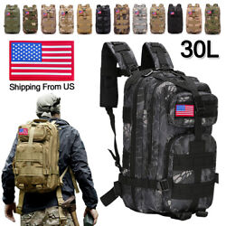30L Outdoor Military Molle Tactical Backpack Rucksack Camping Hiking Bag Travel $24.99