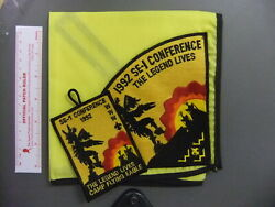 Boy Scout Oa Section Se-1 1992 Conference Neckerchief Flying Eagle 2120dd