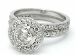 1.45ct Round Cut Antique Diamond Engagement Ring And Band