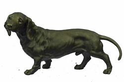 Dachshund Basset Hound Bronze Puppy Dog Sculpture Statue 9