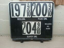 Vintage Advertising Gas Station Pump Topper Price Sign Letters And Numbers