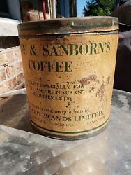 Vintage Advertising Chase And Sanborn's Coffee Tin Can Display General Store