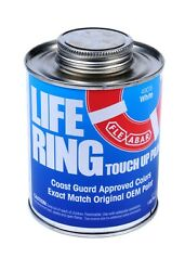 Aquagard 49015 Life Ring Touch Up Paint White Pint Coast Guard Approved Color