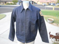 Vintage Unitog Work Coat Aberdeen Fire Dept Red Cross Jacket Usa Union Made 44 L