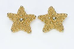 Christian Lacroix 1980's Gold Plated Starfish Earrings