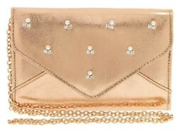 Claires Rose Gold Clutch Purse Nwt $8.99